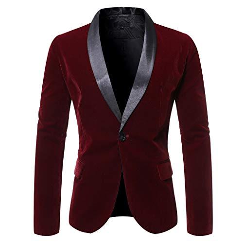 Longra Abito da Uomo Casual in Velluto Uomo Slim Fit Floral Prints Stylish Blazer Coats Chic Jackets Classico Blazer Uomo Tailleur Giacca Slim Fit Elegante Ufficio Business Tops