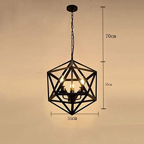 ZANYUYU Luces pendientes, Nordic retro Araña Industrial viento hierro de una sola cabeza de la lámpara (Color : Awarm Light)