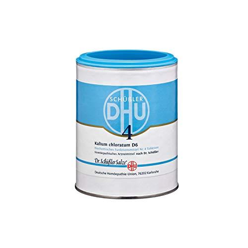 DHU Schüßler-Salz Nr. 4 Kalium chloratum D6 Tabletten, 1000 St. Tabletten