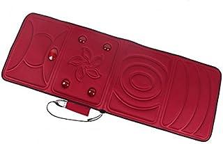AMYMGLL Almohadilla de masaje de vibración almohadilla de masaje corporal vibración de calefacción (hogar, 9 motor) (para las nalgas, piernas, cabeza, cuello, cintura, espalda, pies) , red