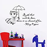 Hot vente sticker mural citations Mary Poppins dans l'emploi qui doit être fait...
