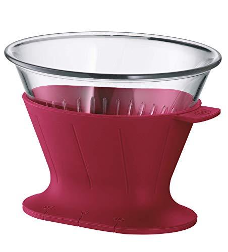 alfi Kaffeefilter Tritan Größe 4, Handfilter Kaffee für Thermoskanne oder Tasse rot, 0095.278.002 wiederverwendbare Kaffeefilter, Kaffee direkt in die Isolierkanne oder Kaffeetasse filtern