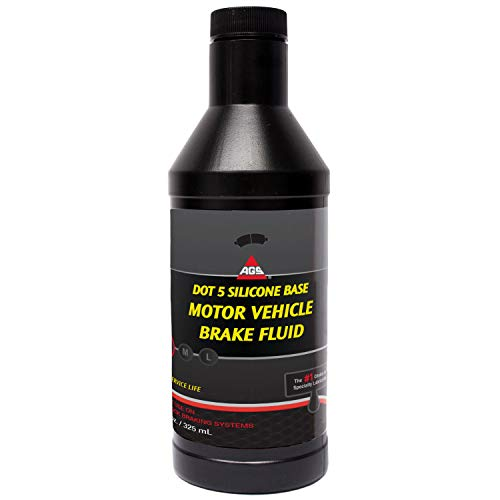 AGS Silicone DOT 5 High Temperature Brake Fluid,...