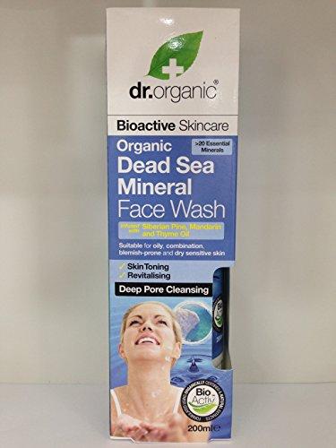 Dr. Orgánica del Mar Muerto minerales Face Wash 200ml. Apto para huellas de, combinación, blemish-prone y seco piel sensible. We barco de todo el mundo