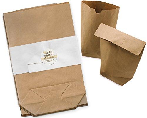 24 braune Papiertüten für Adventskalender, Gastgeschenke, Geburtstag, Hochzeit - 17 x 26 cm - Geschenktüten zum selbst Befüllen & Verpacken, blickdichte Kraftpapier Tüten mit Boden, ungefädelt, Set