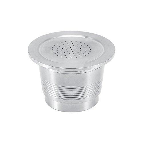 NUOVE capsule ricaricabili in acciaio inossidabile, kit di cialde per caffè riutilizzabili compatibili con la macchina Nespresso