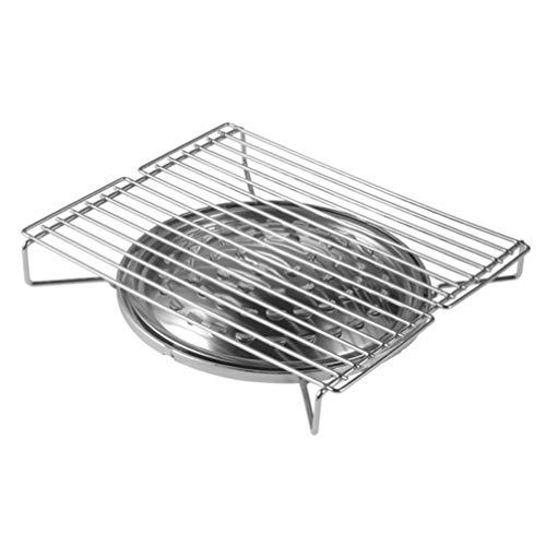 Hemoton Camp Stove Grill Stainless Steel BBQ Gas Burner Multi Purpose Grill Rack Barbecue Stove Portable Barbecue Grill for Park Outdoor Camping Home