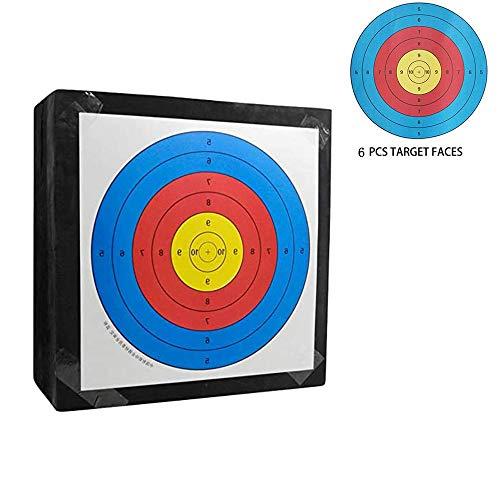 CUHSPOL Eva Archery Bow Target Portátil 3D Archery Target con 6 Piezas Caras Objetivo, Flechas Objetivo para Arco Recurvo Arco Largo o Arco Compuesto