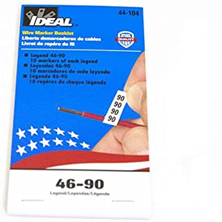 Ideal 44-104 Wire Marker Booklets-Legend-46-90 10 each)