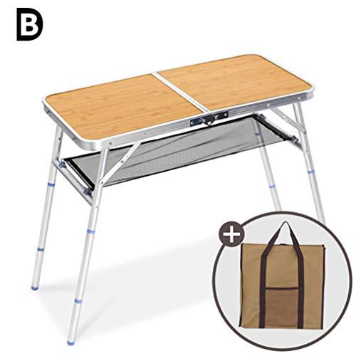 B-D Mesa De Picnic Plegable para Camping, Taburetes Plegable Portátil como Si Fuera Un Maletín Altura Regulable para Pícnic Camping