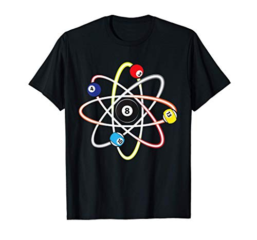 Playing Pool Camiseta - Billar Atom Science Broma Camiseta