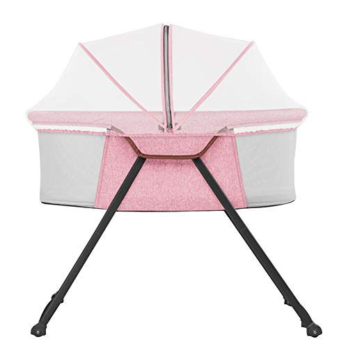 Fantastic Deal! XJJUN-Rocking crib Mosquito Net Universal Wheel Foldable Stable Easy to Carry Safety...