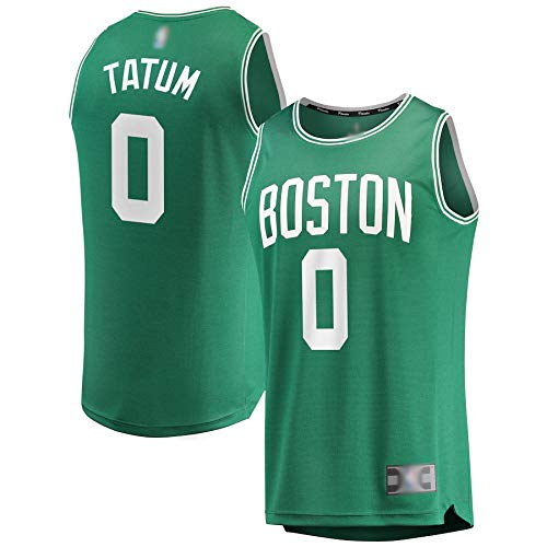 Camisetas de baloncesto Jayson Celtics NO.0 Verde, Boston Tatum Fast Break Réplica de camiseta transpirable de manga corta para hombres - Icon