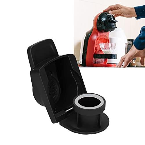 Adapter do kapsułek z kawą, zintegrowana konstrukcja Łatwy do wielokrotnego użytku adapter do kapsułek zamknięty i pod ciśnieniem do ekspresu do kawy(black)