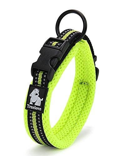 Rantow Soft Breathable Mesh Kragen für Hund 3M Nacht reflektierende Streifen Bequeme verstellbare Sicherheits-Hundehalsband für kleine/mittlere/große Hunde (Grün) (XL (Neck 50-55cm))