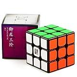 cuberspeed YJ Yulong V2 M 3x3 Black Speed Cube YJ Yulong 2M Magnetic Cube Puzzle