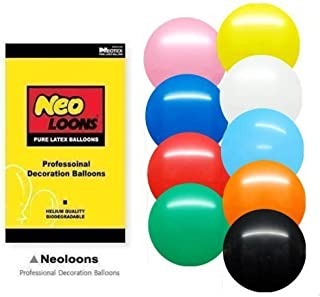 Neo LOONS 12 inch Pastel Assortment Colors Premium Latex Balloons for Birthdays Weddings Receptions Baby Showers Decorations, Pack of 100