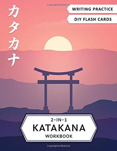 2-in-1 Katakana Workbook: Japanese for beginners: Katakana writing practice notebook and flash cards (Japanese Writing Workbooks)
