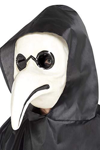 Smiffys-45036 Auténtica máscara de Doctor de la Peste Veneciana, Color Blanco, No es Applicable (Smiffy'S 45036)