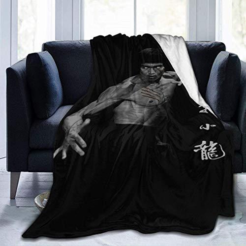 Bru-ce L-ee 23 - Manta de forro polar ultra suave, para decoración del hogar, 20 x 60 pulgadas