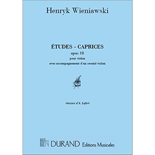 Etudes Caprices Op 18 2 Violons