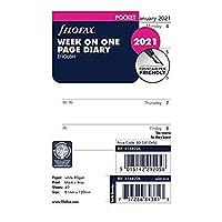 Filofax 2021、ポケット、1ページの週、英語(C68226-21) (C68226-2021)