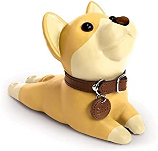 Bamboo's Grocery Cute Dog Door Stopper, Shiba Inu, Perfect Gift (Khaki)