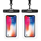 RAGZAN Wasserdichte Handyhülle Handy Wasserschutzhülle- 2 Stück Geeignet für iPhone 11 Pro Max Xs XR X 8, Huawei P40 Samsung S20 S10 S9(Bis zu 6,9 Zoll) Schutzhülle für Wasseraktivitäten Wie Schwimmen