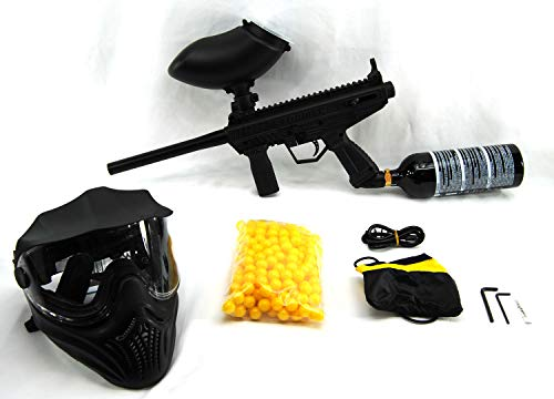 Tippmann Stormer Basic Paintball Package with 200 Rd Loader, 200 Paintballs, Mask, and 20 Oz. CO2 Tank