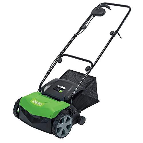 Draper 92674 1100W 320mm 2in1 Lawn Aerator/Scarifier, Green