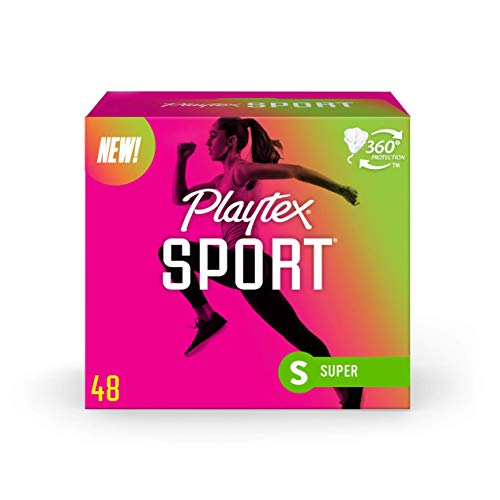 Playtex Sport Tampons Super Absorbency, White, Unscented, 48 Count