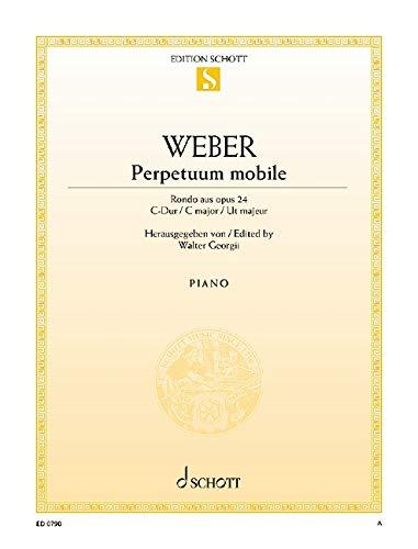 Perpetuum mobile: Rondo. op. 24. Klavier. (Edition Schott Einzelausgabe)