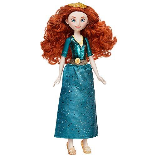 Hasbro F0903ES2 Disney Prinzessin Schimmerglanz Merida Puppe, Modepuppe mit Rock und Accessoires, Spielzeug für Kinder ab 3 Jahren