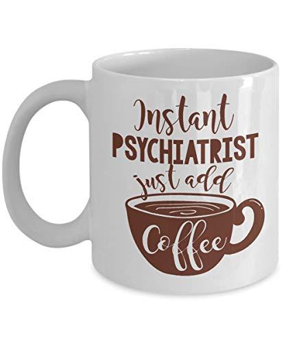 Eastlif Divertido Regalo instantáneo para psiquiatra, Taza de café y té para una psiquiatra Infantil, mamá, futuros psicólogos de Hombres y Mujeres