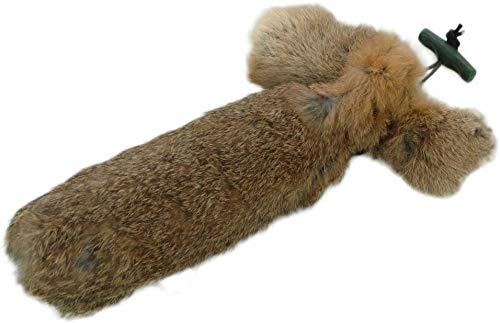 Romneys Dummy para conejo, 500 g, con revestimiento de pelo auténtico, manzana salvaje para la formación cazadora de perros
