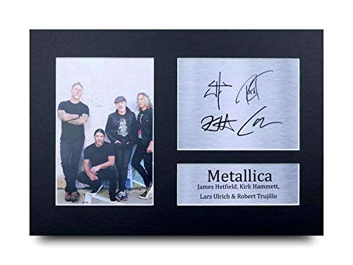 HWC Trading Metallica A4 Ungerahmt Signiert Gedruckt Autogramme Bild Druck-Fotoanzeige Geschenk Für Musik-Fans