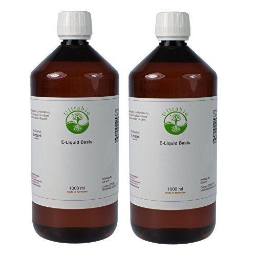 Ultrabio® Deutsche Liquid Basen 2000ml 55/35/10 (55% PG / 35% VG / 10% H²O) e liquid Base ohne Nikotin