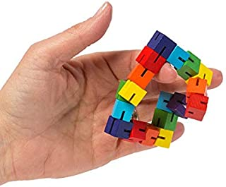 NUTY DUSTY Fidget Toys Yooap Color Wooden Cubes Wooden String Twists and Turns Magic Cubes Creative Decompression Children Adults Toysfidget Toys
