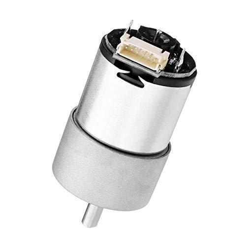 LULUTING CQS Piezas mecánicas, 12V 330rpm transmisor del Motor del Engranaje del Motor de imán Permanente 11W Cajas Reductoras de Motor