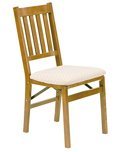 Stakmore Arts and Craft Folding Chair Finish Set of 2 Oak