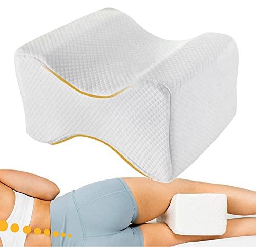 OrtoPrime Almohada Ortopédica Piernas y Rodillas Confort Cojín Piernas para Dormir de Lado - Almohada para Rodillas Libera la Presión Alivia la Tensión y Corrige la Espalda - Efecto Memoria