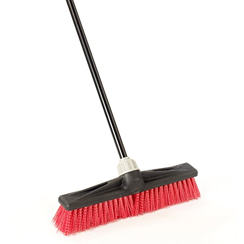 "O-Cedar Professional 18"" Rough-Surface Push Broom"