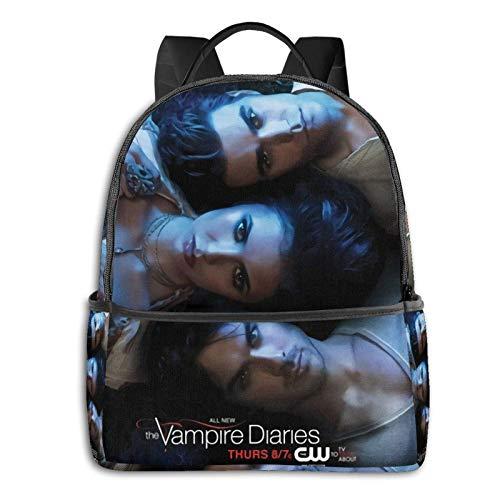 Jupsero Mochila para ordenador portátil The Vampire Diaries, bolsa de viaje resistente al agua, mochila duradera para ordenadores portátiles para mujeres y hombres, mochilas universitarias