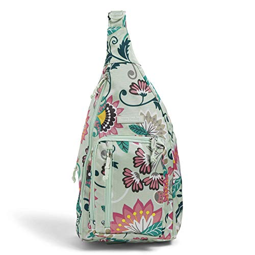 Vera Bradley Lighten Up Sling, Mint Flowers