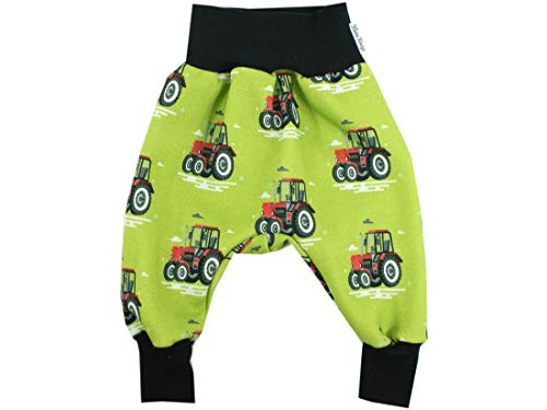 Kleine Koning pompbroek baby sweatbroek jongens · model tractor grote tracker groen, zwart · Ökotex 100 gecertificeerd · maten 50-164
