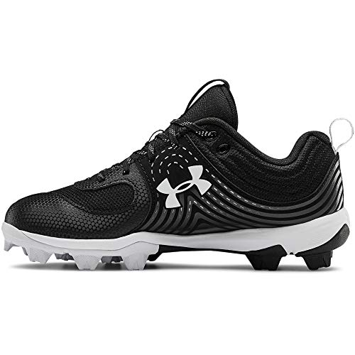 Under Armour womens Glyde Rm Softball Shoe, Black/White, 8.5 US