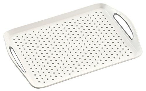 Kesper Tablett, Kunststoff, Weiß, 45.5 x 32 x 4.5 cm