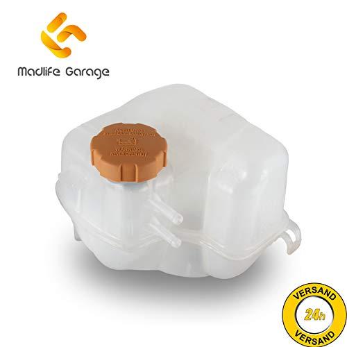 Madlife Garage 1304236 Ausgleichsbehälter Kühlmittelbehälter mit Deckel Kühlwasser Kühlmittel Behälter Signum Vectra C