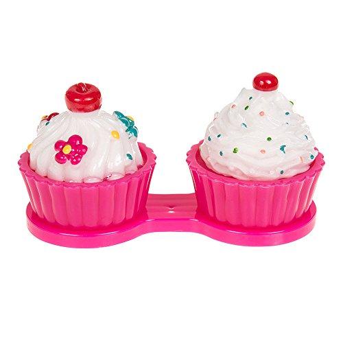 Astuccio Per Lenti A Contatto Dark Pink Cupcake (Patisserie Rosa Scuro)
