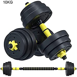 Ai xin Free Weights Dumbbells Set for Men and Women with Connecting Rod Can Be Used As Barbell for Home Gym Work Out Training 10kg/ 22Lbs, 15KG/33Lbs, 20kg/44Lbs (Size : 10kg)